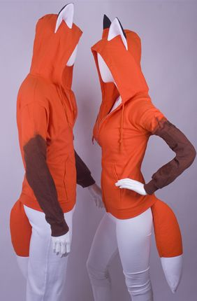 This might be this year's costumes for me and Todd. I don't have time to make some full-blown concept, but I could handle some cute fox-y hoodies!