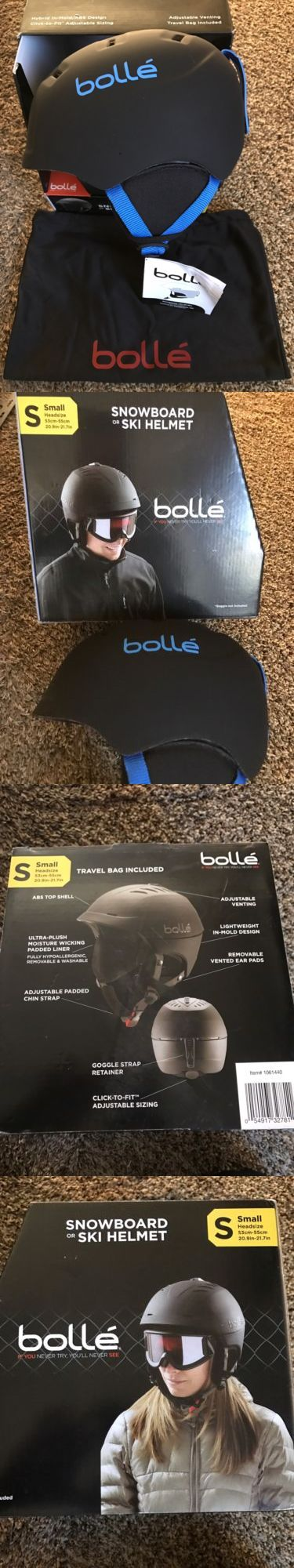 Protective Gear 36260: Bolle Alliance Snowboard Ski Winter Sports Helmet Matte Black Size Small BUY IT NOW ONLY: $41.9