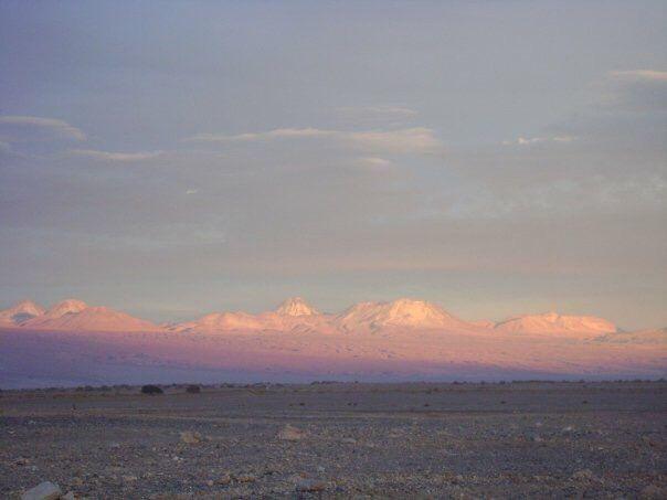 Otra del desierto de Atacama al atardecer