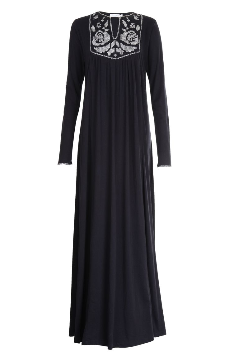 Aab UK Cross Stitch Rose Abaya : Standard view