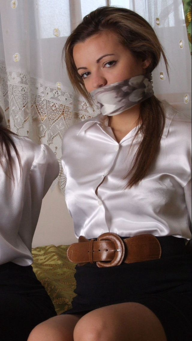 67 best scarf gagged cuties images on Pinterest | Silk