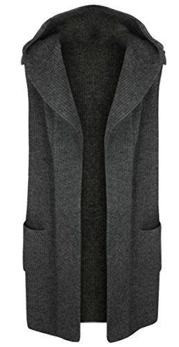 4eae6fe4685 Pandapang Womens Cardigan Knit Wear Hoodie Solid Plus Size Sweater Vest