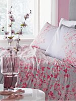 Elodie floral grey double duvet cover