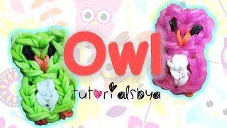 Owl Charm / Mini Figurine Rainbow Loom Tutorial - YouTube