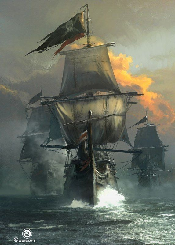 Enough Assassin's Creed IV Concept Art To Shiver Your Timbers ~Via Louis Charrier