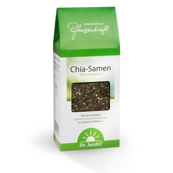 Die Chia-Saat (Salvia hispanicaL.) wurde ursprünglich von den Azteken in Zentralamerika angebaut und ist in Europa erst seit kurzer Zeit bekannt. Chia-Samen sind cholesterinfrei sowie reich an Bal...