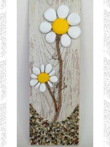 rock flower craft