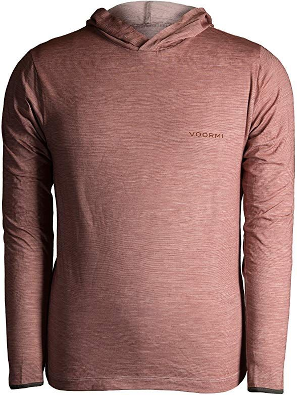 Amazon Com Voormi Men S River Run Hoodie Large Red Rock Clothing Mens Tops Mens Tshirts