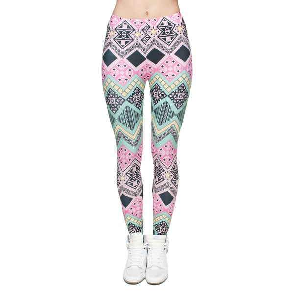 Aztec Leggings (23 715 LBP) ❤ liked on Polyvore featuring pants, leggings, aztec pattern leggings, legging pants, aztec pants, aztec-print pants and aztec print leggings