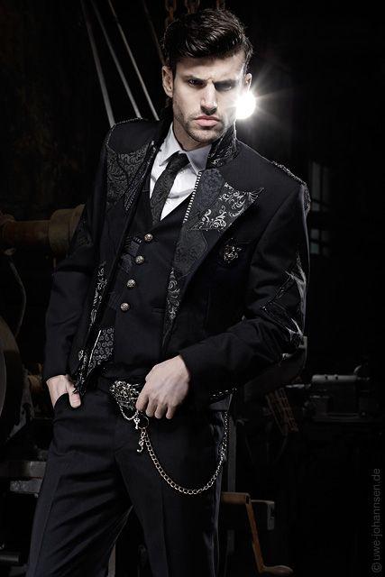 Extravagante Herrenmode, Gehrock, ausgefallene Hochzeitsanzüge  meN ...