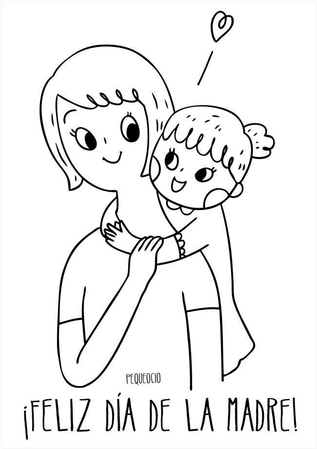 7 Dibujos Del Dia De La Madre Para Colorear Y Felicitar A Mama Pequeocio En 2020 Dibujos Del Dia De Las Madres Dia De Las Madres Dibujos
