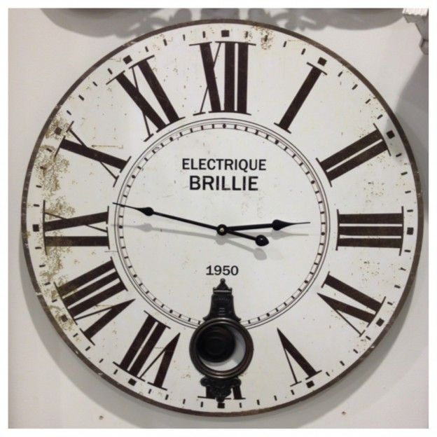 Electrique Brille Pendulum Wall Clocks Are Back In Store! http://blog.victoriajameshomeaccessories.co.uk/favourite-pendulum-wall-clocks/ #wallclocks #clocks #shabbychic