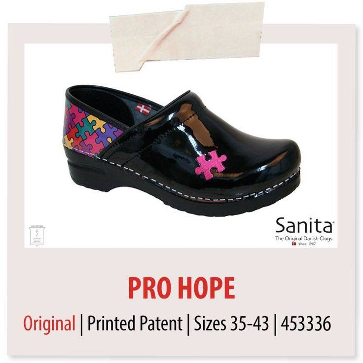 Bring autism awareness to work! Sanita will donate $5 for every pair of Pro.