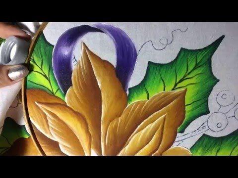 Pintura en tela nochebuena # 1 con cony - YouTube