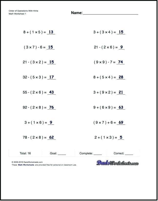 28 Operations With Integers Worksheet Pdf With Images