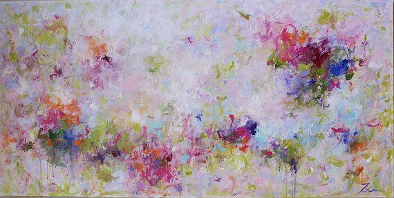Luce viola viola pittura astratta pittura acrilica di artbyoak1