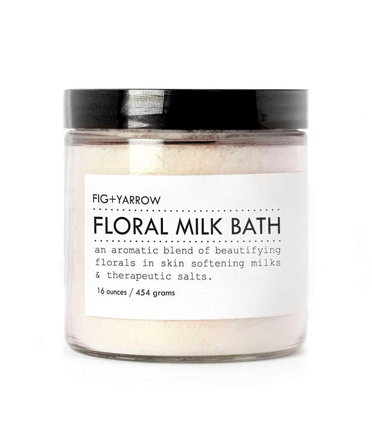 FLORAL MILK BATH - large glass jar - skin-softening - relaxing - beautifying - aromatherapeutic. $32.00, via Etsy.