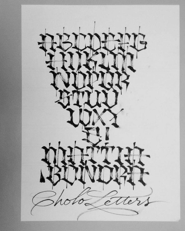 Gangster Tattoo Fonts Alphabet