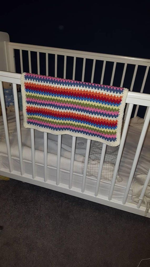 Check out this item in my Etsy shop https://www.etsy.com/uk/listing/527623271/handmade-baby-blanket-multi-coloured