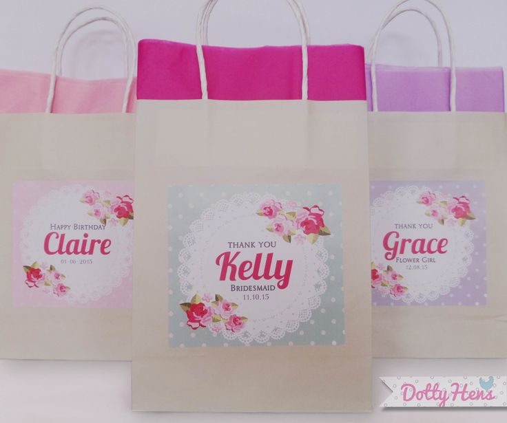 20 best Dotty Hens Personalised Gift Bags images on Pinterest ...