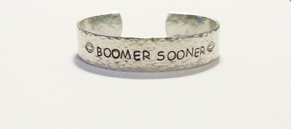 Boomer Sooner hammered bracelet