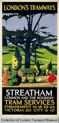 Streatham Common and The Rookery. #london, #underground, #tube, #subway, #posters