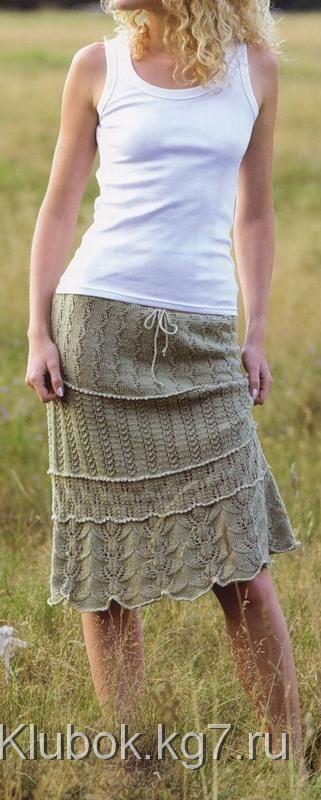 Ажурная многослойная юбка (Lace Tiered Skirt) | Клубок