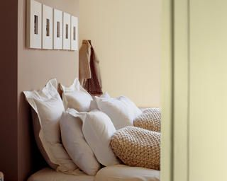 Use soft neutrals for a calm bedroom + colours and products