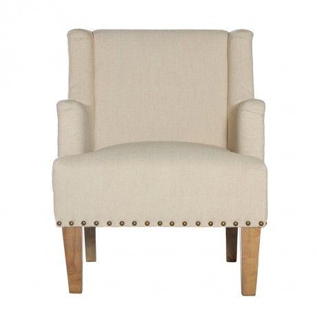 Rustic Cream Armchair