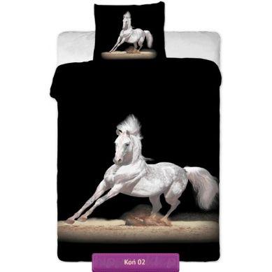 Beautifull horse on the black bedding | Pościel z koniem 02