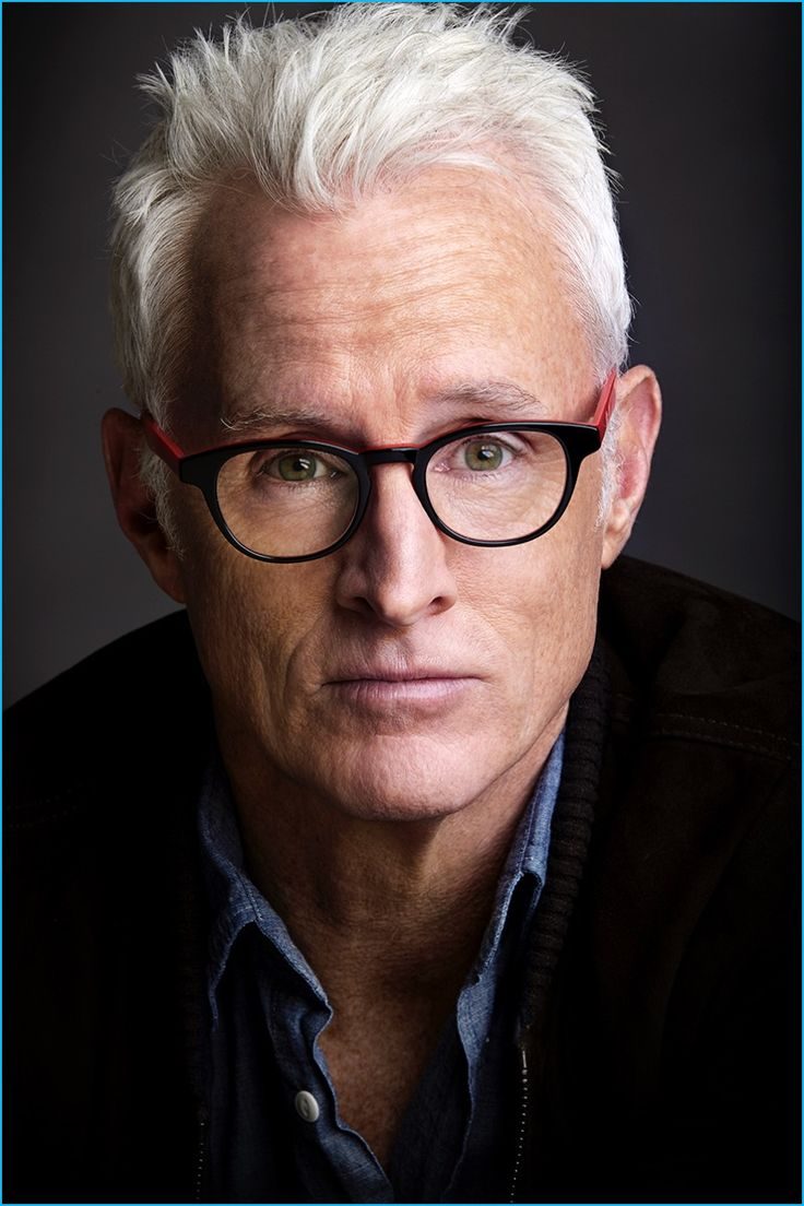 John Slattery photographed by Timothy Greenfield-Sanders in Eyebobs' Take a Stand reading glasses.