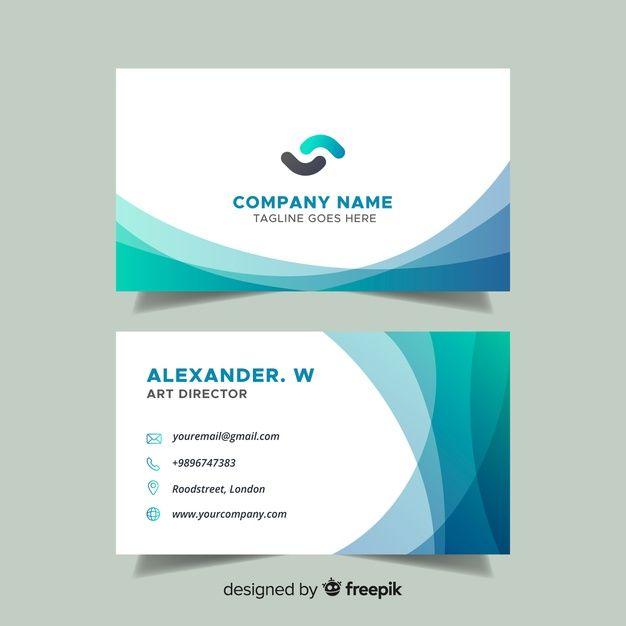 Download Flat Abstract Business Card Template For Free Tarjetas De Visita Gratis Tarjetas De Visita Imprimibles Tarjetas De Visita Creativas