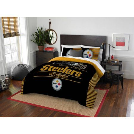 NFL Pittsburgh Steelers Draft Bedding Comforter Set, Black