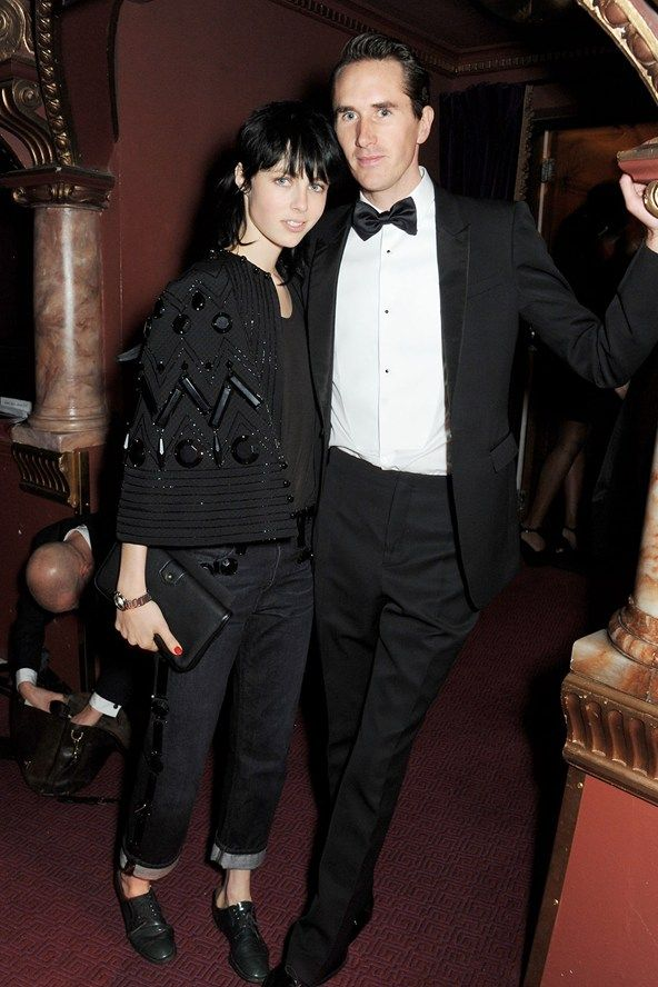 """Edie Campbell and Otis Ferry. Campbell scooped the Model of the Year award, thanking her pony Dolly. """"I'm very lucky the past year has been really fun,"""" she said."""