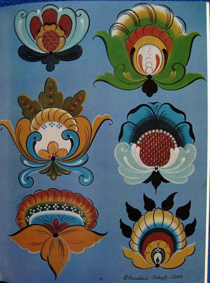 Hallingdal Rosemaling 2 Painting Book Claudine Schatz Norwegian Folk Art Unused | eBay