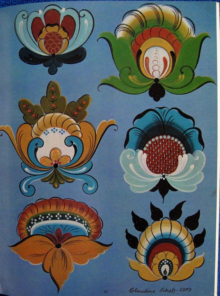 Hallingdal Rosemaling 2 Painting Book Claudine Schatz Norwegian Folk Art Unused | eBay