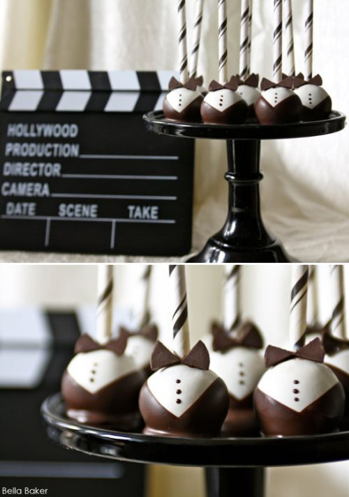 These cake pops clean up nice. #oscar party ideas.