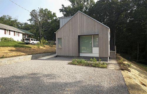 New Norris House (example of cabot's bleaching oil on Atlantic White Cedar rainscreen)