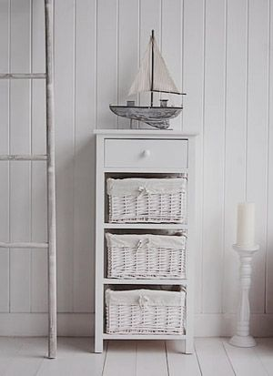 White Bathroom Storage Form New Haven Range Of Freestanding Bathroom Storage From Cottage Living Furniture