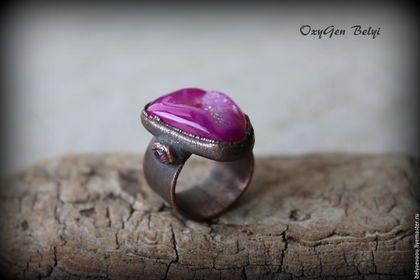 """Кольца ручной работы. Ярмарка Мастеров - ручная работа. Купить Кольцо """"Маджента"""". Handmade. Фуксия, розовый турмалин, эко"""