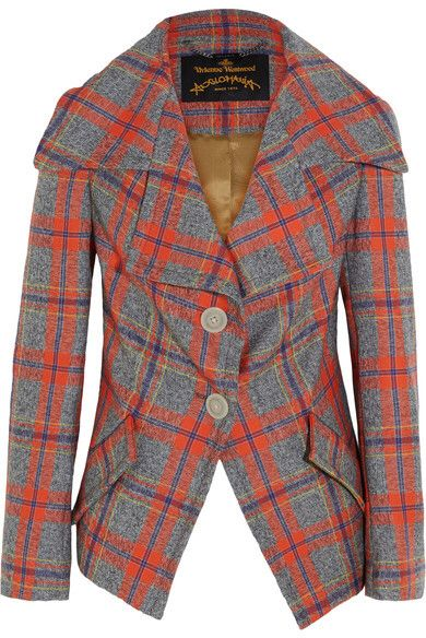 Vivienne Westwood Anglomania - Propaganda Tartan Wool Jacket - Red