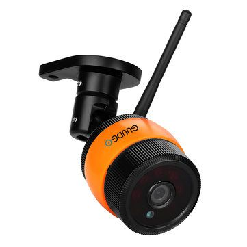 GUUDGO GD-SC01 720P Waterproof Wifi IP Camera Outdoor Bullet IR Night Vision CCTV Security Surveillance Camera Support Up to 64G TF Card Android IOS Phone Windows PC View