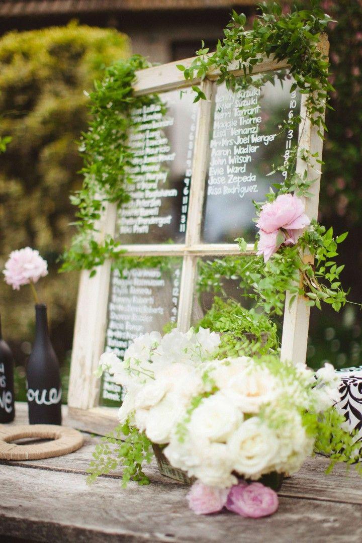 wedding seating chart idea; photo: Sposto Photography