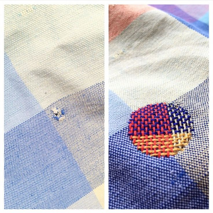 Visible Mending For Holes