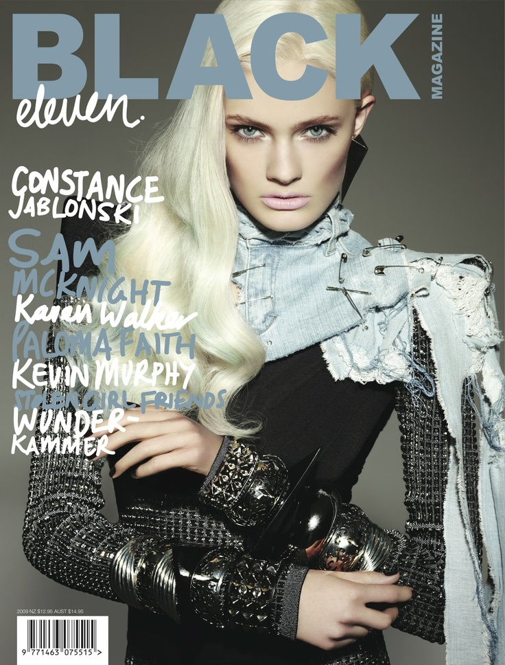 BLK #11 Cover 1. Photo: Michael Schwartz. Fashion editor: Elizabeth Sulcer. Hair: Tuan Anh Tran. Make-up: Valery Gherman. Model: Constance Jablonski at Marilyn New York