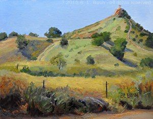 231 - Circle Mountain, Bent, NM x by Barbara Bush in the FASO Daily Art Show