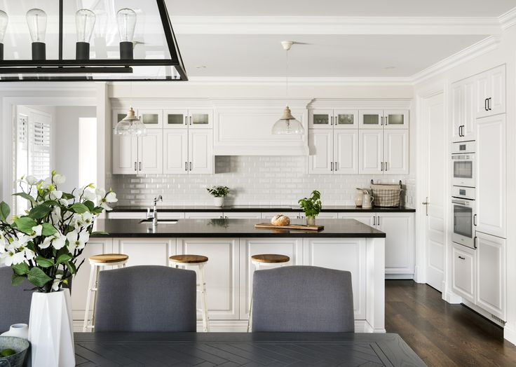 Custom-designed for a young family, this Hamptons-style 'forever' home has five-bedrooms, three-bathrooms, a library, study, kitchen and scullery, and a huge open-plan living area leading out to the pool deck and alfresco.