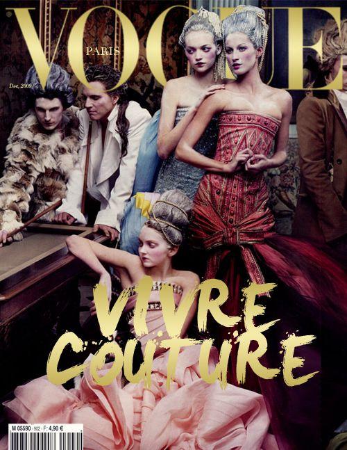 Vogue Paris, December 2009 #cover | Vivre Couture by Annie Leibovitz: Halloween Costumes, Vogue Paris, Vivre Couture, Mary Antoinette, Paris Covers, Fashion Magazines, Magazines Covers, Vogue Covers, Haute Couture