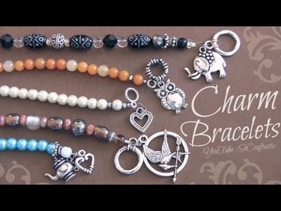 DIY Beaded Charm Bracelet with wire, crimp beads, & clasps ♥ Beaded Pearl Jewelry Making How-To