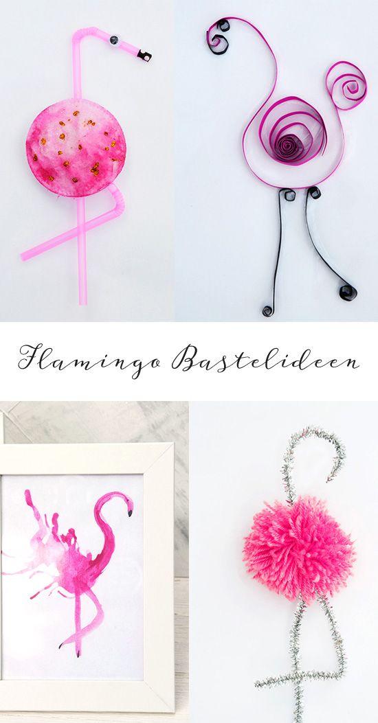 Flamingo Pompom, Strohhalm Flamingo, Flamingos mit Puste-Technik und mehr...Hier findet Ihr tolle Ideen für Eure Flamingoparty oder so zum Nachbasteln